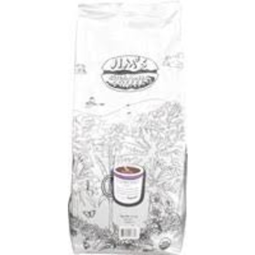 Jim's Organic Coffee Whole Bean Espresso Coffee 1 Pound