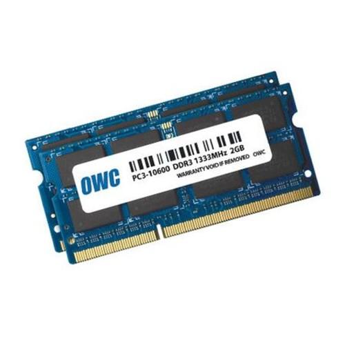 OWC 4GB (2x 2GB) 1333MHz DDR3 SO-DIMM (PC3-10600) Memory Upgrade Kit OWC1333DDR3S04S