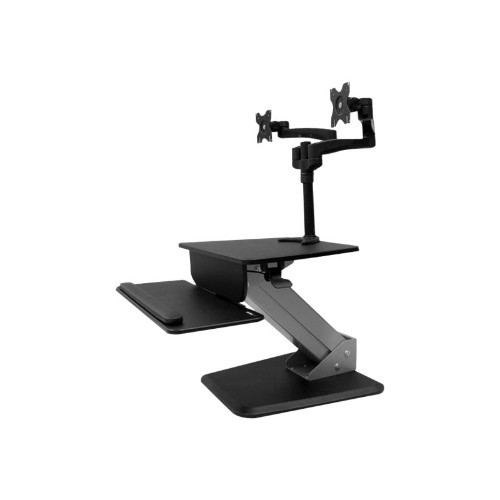 StarTech.com Sit-to-stand Workstation with Dual Monitor Mount - One-Touch Height Adjustment - Dual Monitor Articulation (BNDSTSDUAL)