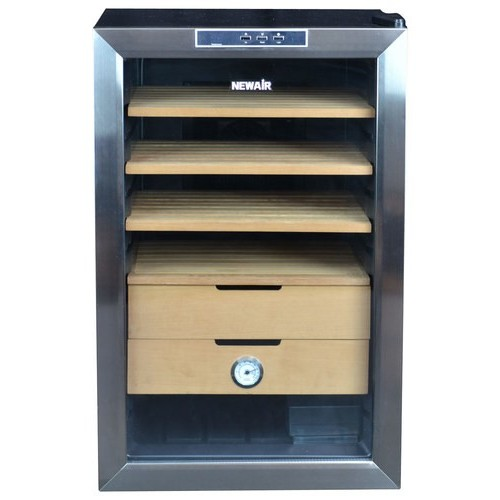 Air - 400-Cigar Thermoelectric Humidor - Stainless steel