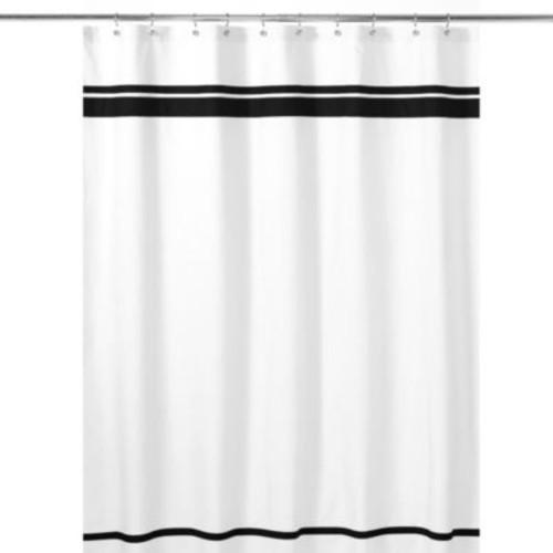 Sweet Jojo Designs Hotel Shower Curtain in White/Black