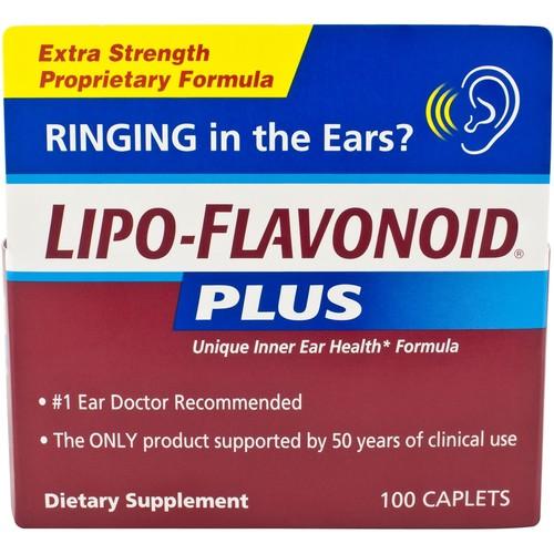 Lipo Flavonoid Plus Unique Ear Health Formula, Extra Strength, Caplets, 100 caplets