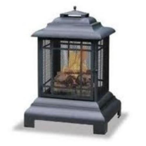 Fire Sense Rectangle Pagoda Patio Fireplace