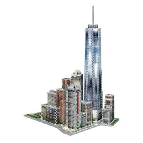 Wrebbit Puzzles New York Collection World Trade 3D Jigsaw Puzzle - 875-Piece