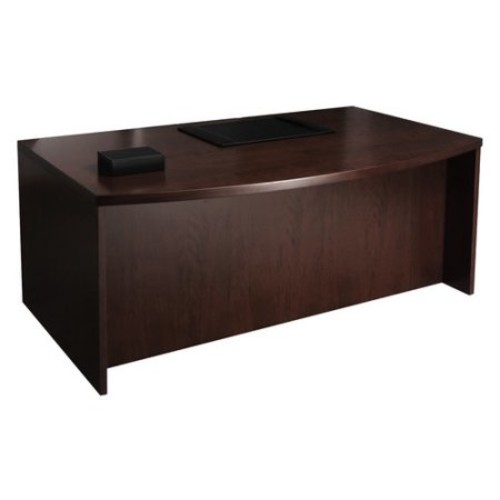 Mira Series Straight Front Desk in Medium Cherry Finish (72 in.)
