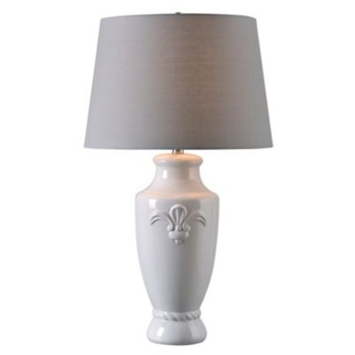 Kenroy Home Crackle Table Lamp in White