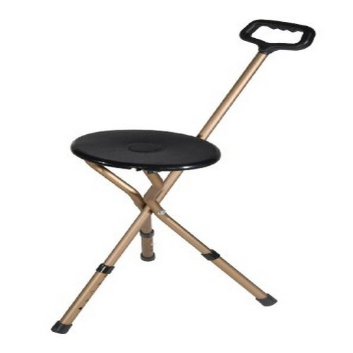 Drive Medical Folding Lightweight Adjustable Height Cane Seat