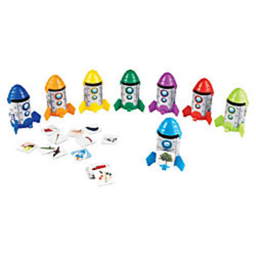 Learning Resources Rhyme And Sort Rockets Activity Set, Pack Of 88 Pieces