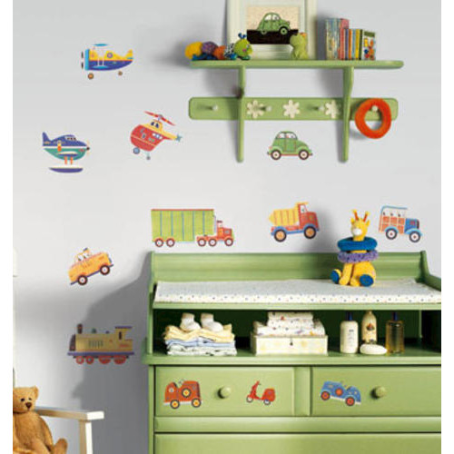 Roommates Decor RMK1132SCS Transportation Peel and Stick Wall Decals