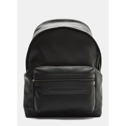 Falabella Chain Detail Backpack in Black