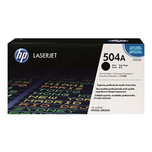HP 504A - Black - original - LaserJet - toner cartridge
