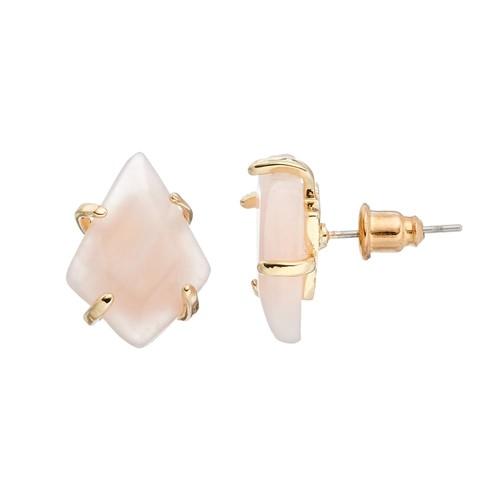 LOLI BIJOUX Breast Cancer Awareness Pink Stud Earrings