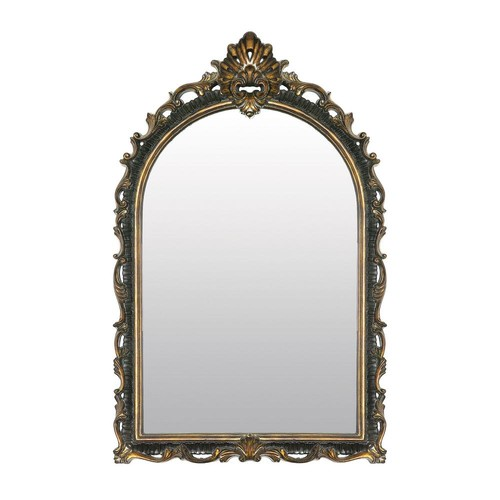Arched Acanthus 41 in. x 26 in. Gretna Gold Framed Mirror