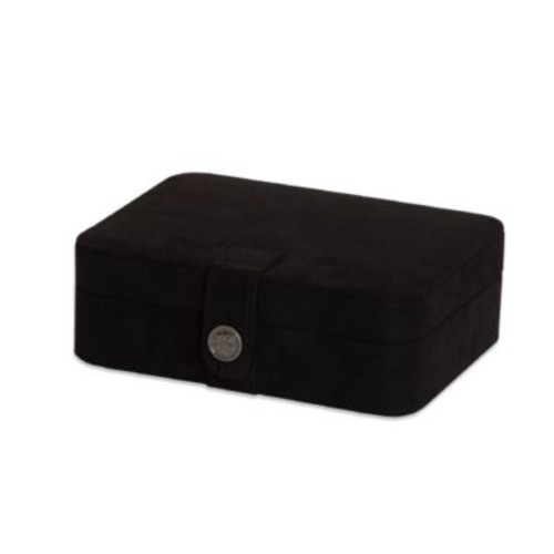 Mele & Co. Giana Plush Black Fabric Jewelry Box