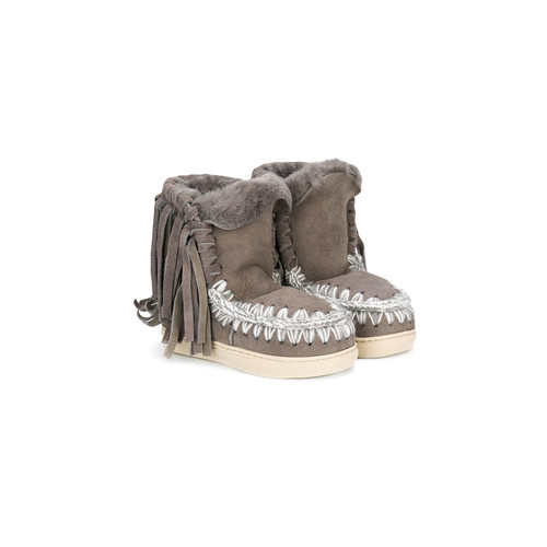 fringed shearling boots