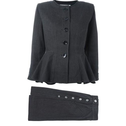 YVES SAINT LAURENT VINTAGE Denim Skirt Suit