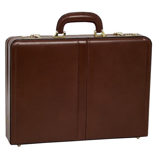 McKlein Reagan 80444 Brown Leather Attache Case