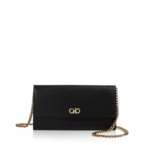 SALVATORE FERRAGAMO Gancini Leather Chain Wallet