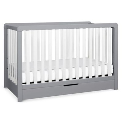 carter's by DaVinci Colby 4-in-1 Crib with Drawer in Grey/White
