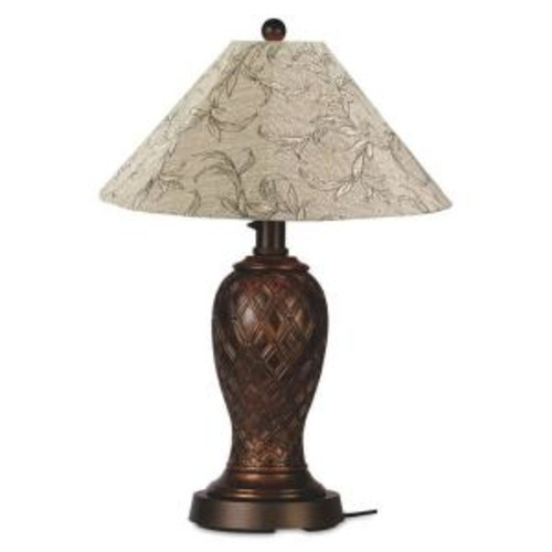 Patio Living Concepts Monterey 34 in. Bronze Outdoor Table Lamp with Bessemer Shade