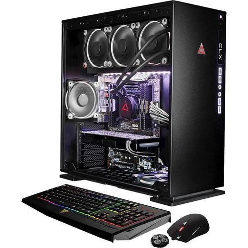 CybertronPC - CLX Desktop - Intel Core i7 - 16GB Memory - NVIDIA GeForce GTX 1070 - 250GB Solid State Drive + 3TB Hard Drive - White