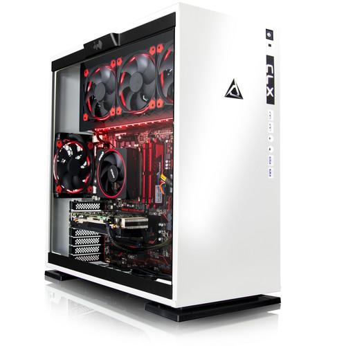 CybertronPC TGASETGXM7602WR CLX SET Gaming PC-AMD Ryzen 7 1700X 3.4GHz, 16GB DDR4, GeForce GTX 1080, 256GB SSD, 3TB HDD, Win 10 Home