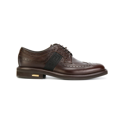 brogues with Greek key side panels