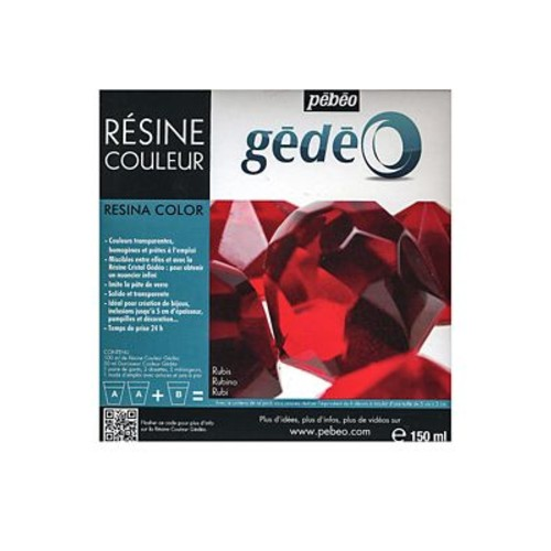 Pebeo Gedeo Colour Resins Ruby 300 Ml (766152CAN)