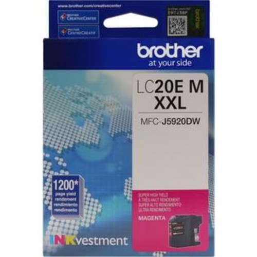 Brother LC-20EM INKvestment Super High Yield (XXL Series) Magenta Ink Cartridge