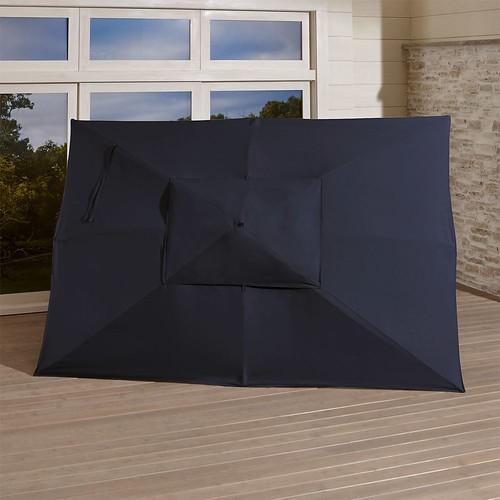 Rectangular Sunbrella  Dark Navy Umbrella Canopy