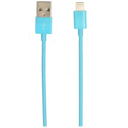 PPA International 4' Lightning to USB Sync and Charge Cable, Blue 8423