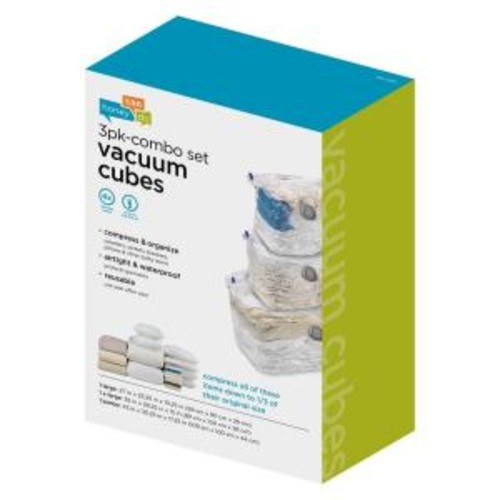 Honey-Can-Do 3-Pack Cubes Combo Vacuum Set