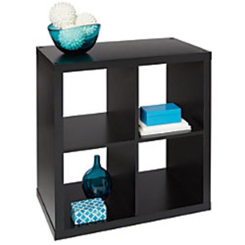 Brenton Studio Cube Bookcase, 4-Cube, Small, Black