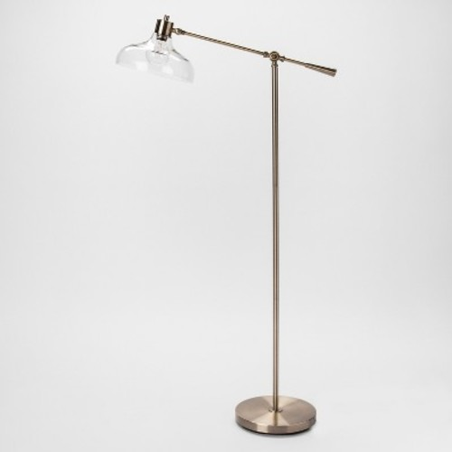 Crosby Glass Shade Floor Lamp Silver - Threshold