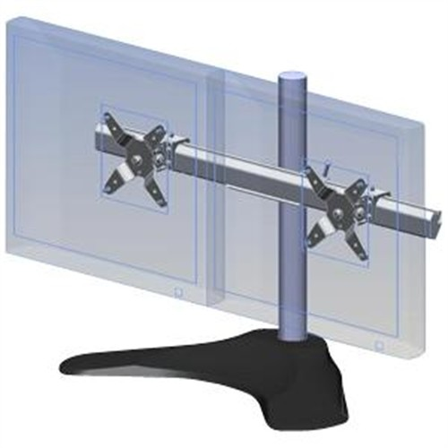 Ergotech Dual LCD Monitor Desk Mount Stand/ Two Screens up to 24
