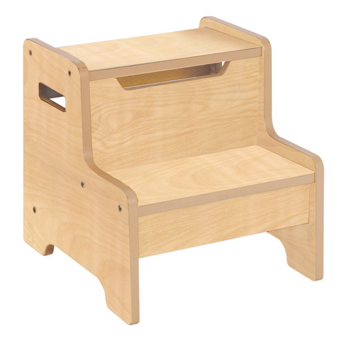 Guidecraft Expressions Step Stool: Natural
