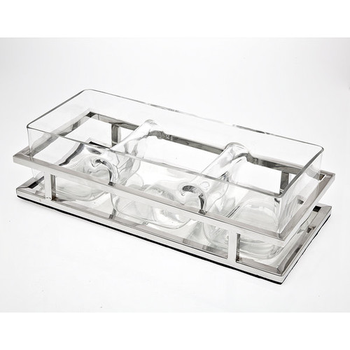 Godinger Serving Platters & Trays Aspen 3 Sectional Server