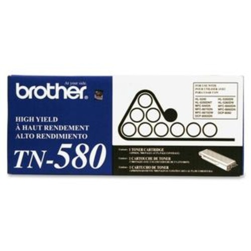 Brother Black High Yield Toner Cartridge - BROTHER - TN580