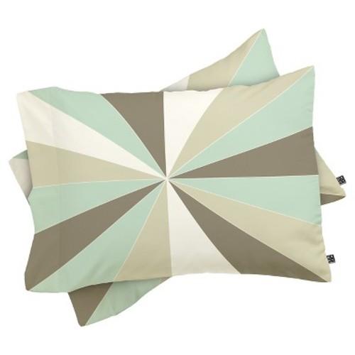 Caroline Okun Champagne Lightweight Pillowcase Standard Mint DENY Designs