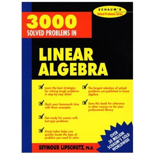 3000 Solved Problems in Linear Algebra (Paperback)