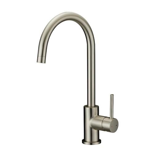 Design House Eastport Single-Handle Standard Kitchen Faucet in Satin Nickel
