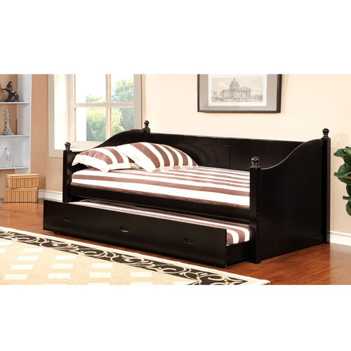 Malloy Daybed with Pull-Out Trundle [Select Acolor : Black]