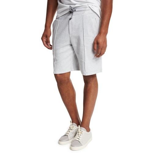 BRUNELLO CUCINELLI Seam-Detail Drawstring Spa Shorts, Gray