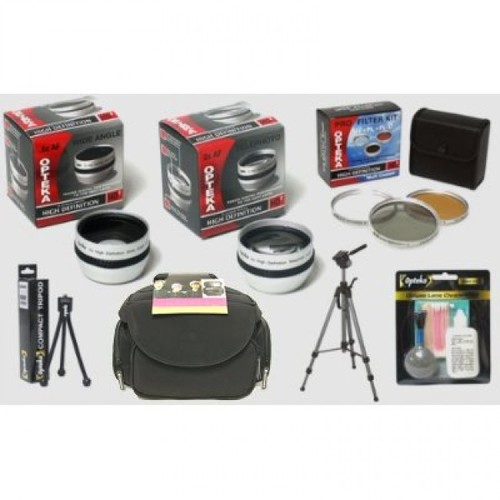 Opteka Pro HD2 Digital Camcorder Accessory Kit for Sony DCR-DVD910, DVD810, DVD710, DVD610, SR220, SR85, SR65, SR45, SR4