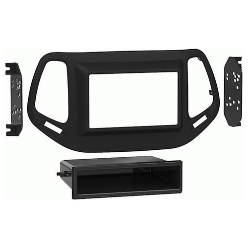Metra 95-6545B Dash Kit (Matte Black) Fits select 2017-up Jeep Compass vehicles (new body style)  double-DIN radios