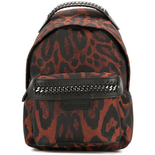leopard print mini Falabella Go backpack