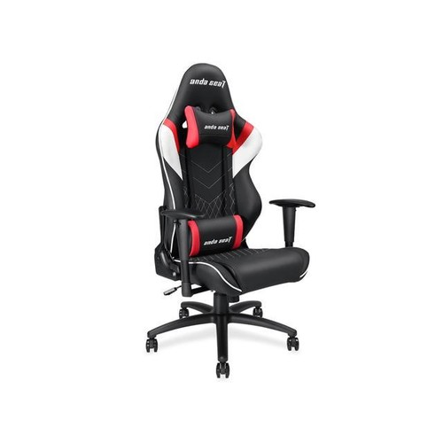 Anda Seat Assassin Series Gaming Chair, Racing Bucket Seat Office Chair With Lumbar Support and Headrest (Black/White/Red) AD4-03-BWR-PV