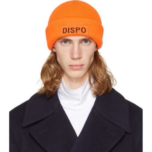 ALEXANDER WANG Orange 'Dispo' Beanie