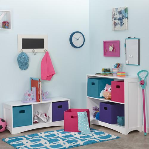 2 Piece Folding Storage Bin Set - Hot Pink