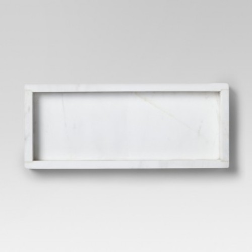 Rectangle Marble Serving Tray - Small - White - Threshold